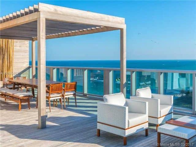 Three floor penthouse in Miami Beach