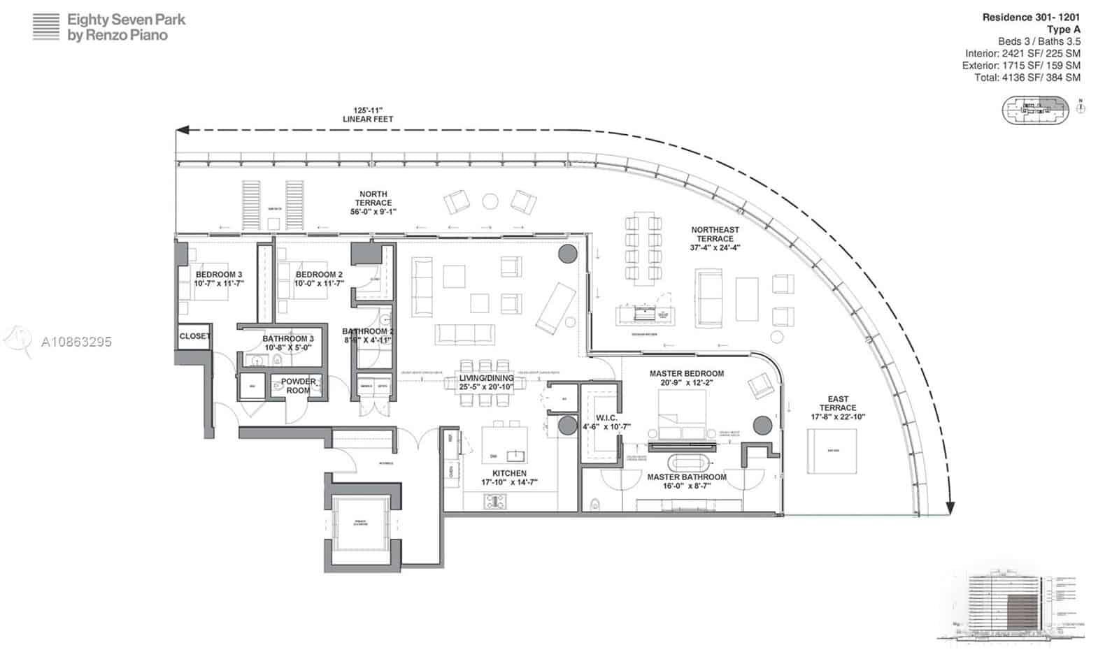 Eighty Seven Park: 8701 COLLINS AVE #601 Floor Plans