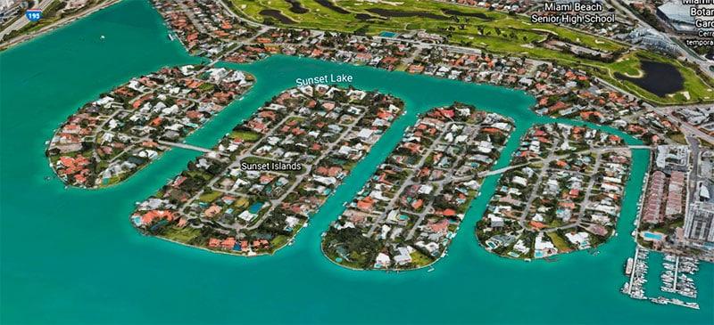 Sunset Islands - Gated Communities in Miami Beach