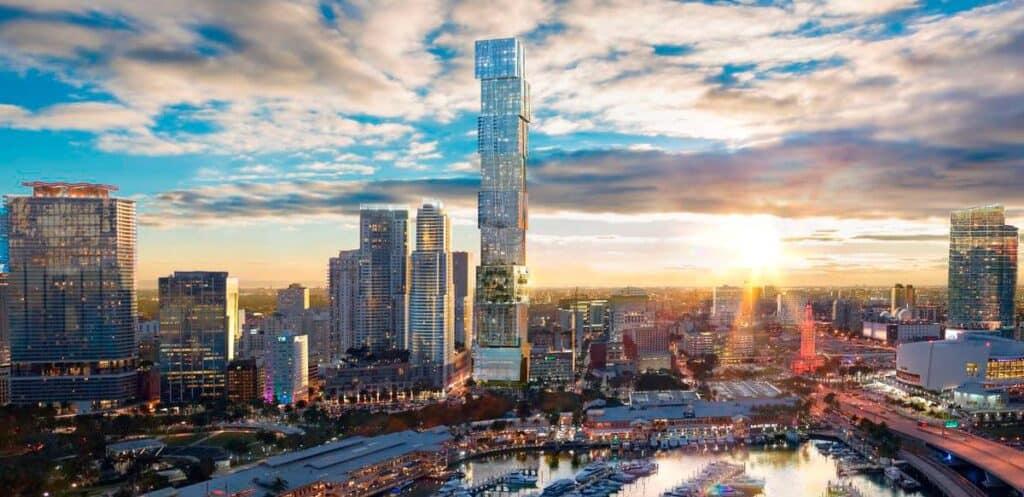 Waldorf Astoria, the highest skyscraper in Miami is launching sales